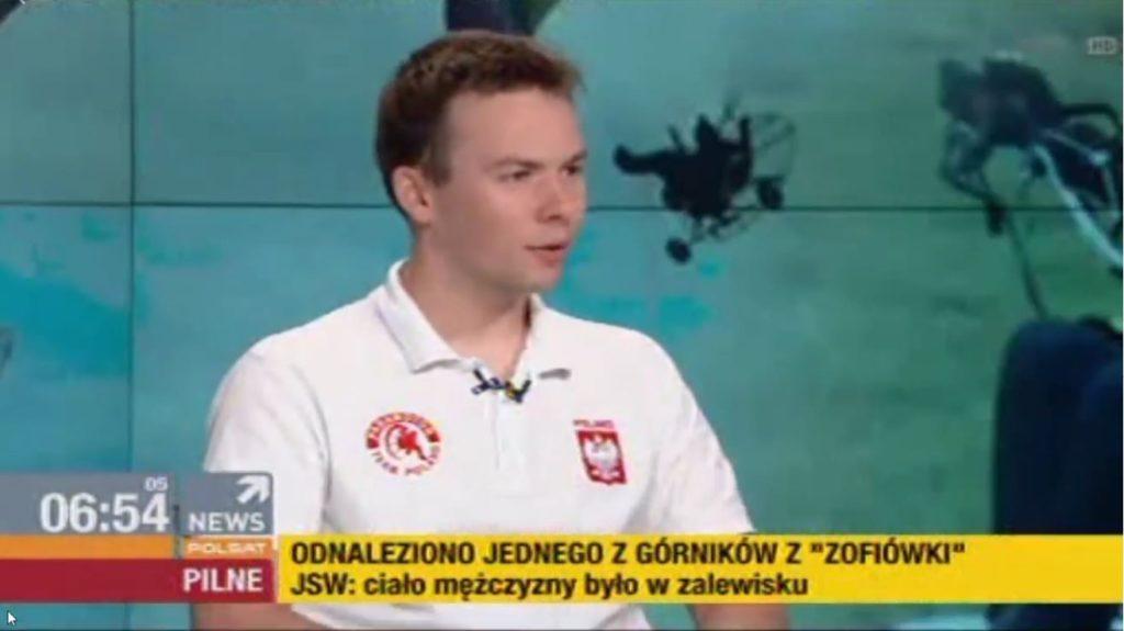 """Gość programu """"Nowy dzień"""" w Polsat News"""