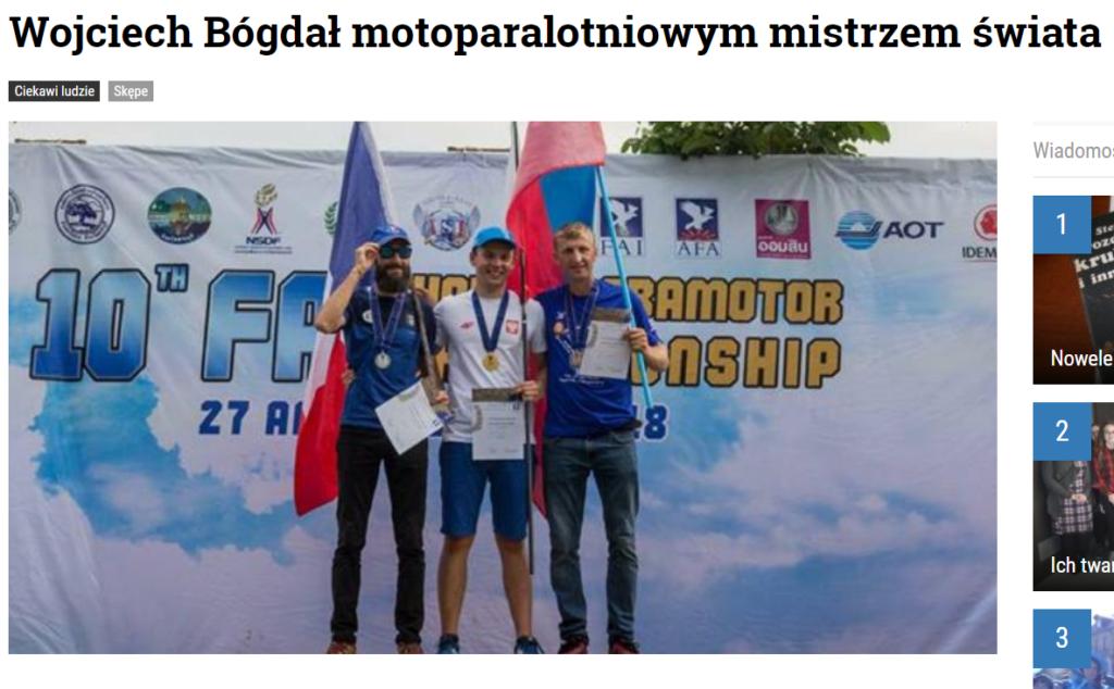Wojciech Bógdał motoparalotniowym mistrzem świata