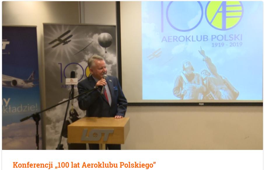 """Konferencji """"100 lat Aeroklubu Polskiego"""""""